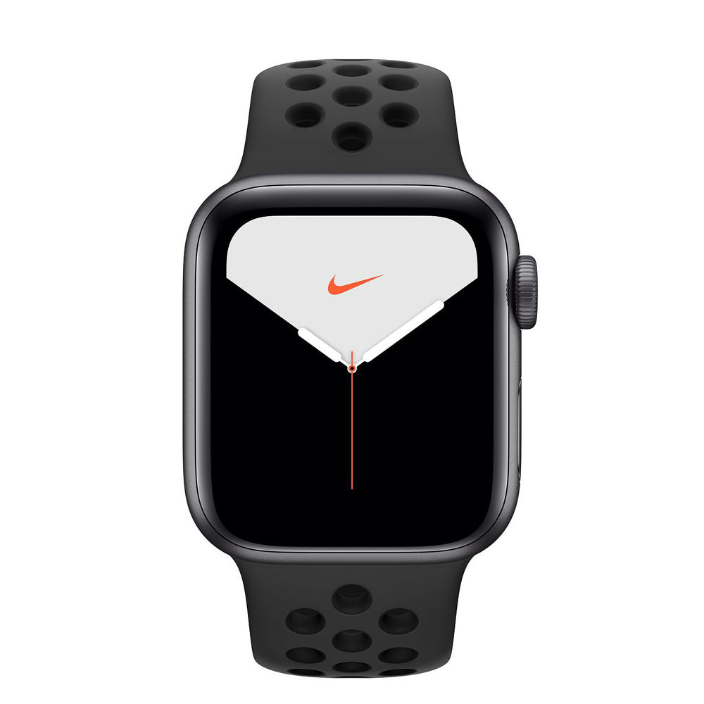Apple Watch S5 Nike GPS版 44mm太空灰鋁錶殼黑運動錶帶MX3W2TA